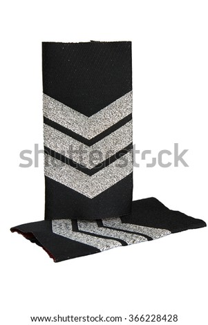 Insignia of police sergeant isolated on white background - stock photo