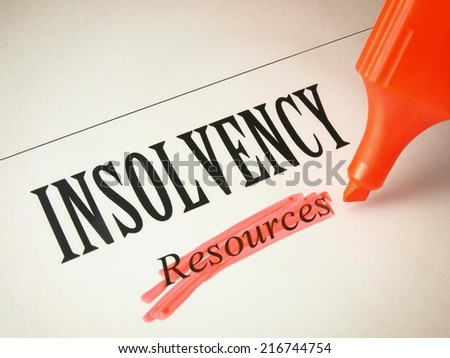 Insolvency information - stock photo