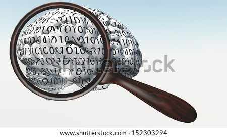 Inspection of Binary Brain - stock photo