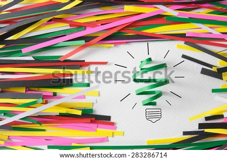 Inspiration concept paper light bulb metaphor for good. - stock photo