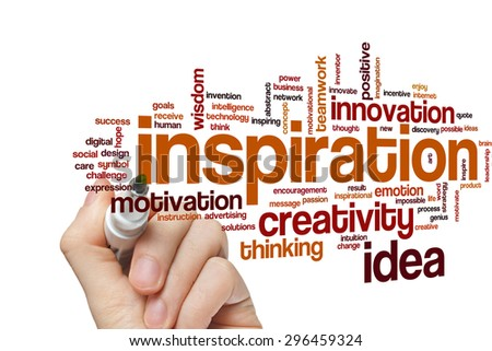 Inspiration concept word cloud background - stock photo
