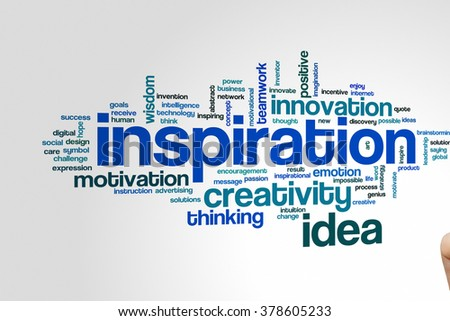 Inspiration concept word cloud background