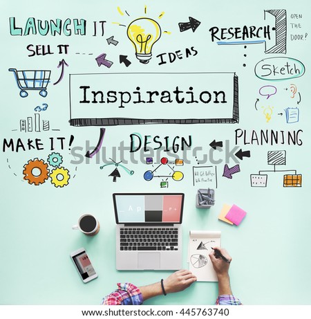 Inspiration Ideas Motivation Creative Innovation Concept - stock photo