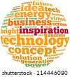 inspiration info-text graphics and arrangement concept on white background (word cloud) - stock photo