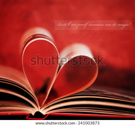 inspirational loving books unknown quote and book in shape of heart