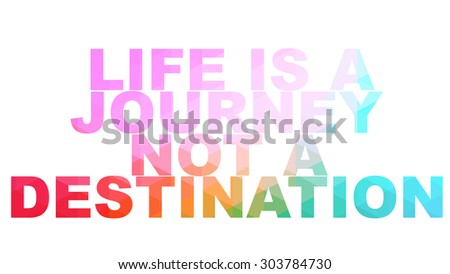 Inspirational motivating quote - Low poly style - stock photo