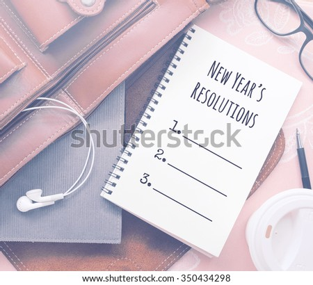Inspirational motivating quote on notebook with vintage filter - stock photo