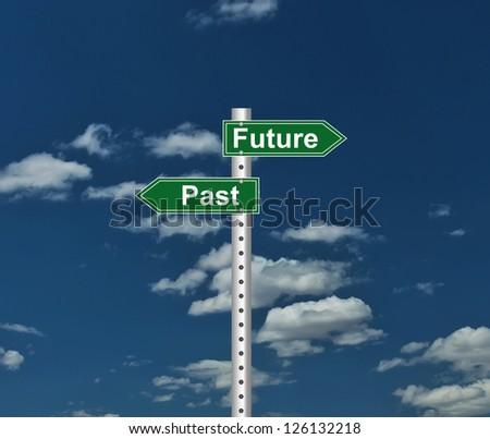 Inspirational Past Future sign - stock photo