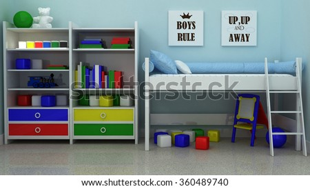 Inspirational quotation Boys rule. Boy Nursery print. Children room decoration