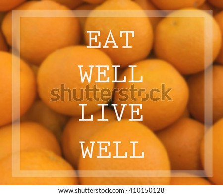 Inspirational quote on blurred   background - stock photo