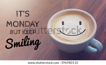 Charming Inspirational Quote On Blurred Coffee Cup Background With Vintage Filter