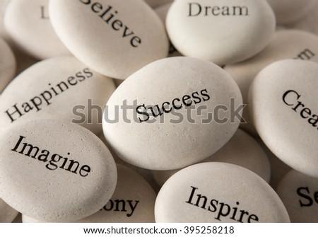 Inspirational stones - Success - stock photo