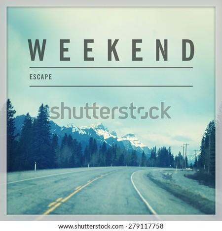 Inspirational Typographic Quote - Always Adventure - stock photo