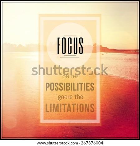 Inspirational Typographic Quote - Focus - stock photo