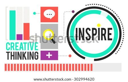 Inspire Inspiration Immagination Motivation Optimistic Concept - stock photo