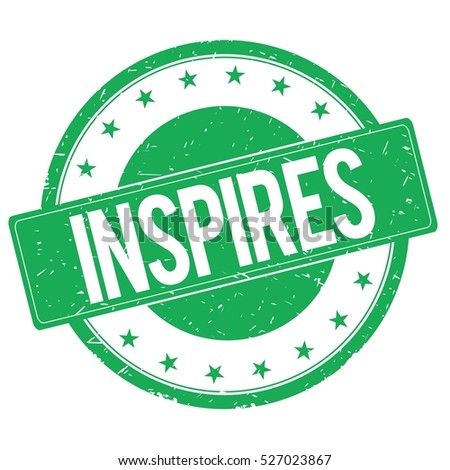 INSPIRES stamp sign text word logo green.