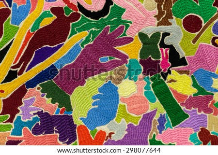 Inspiring and mad, full of colours the abstract background - stock photo