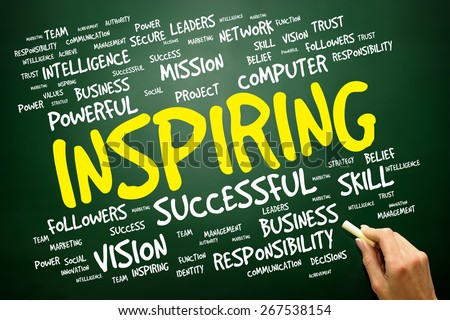 INSPIRING word cloud, business concept - stock photo