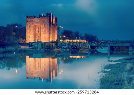 instagram bunratty castle county clare - stock photo