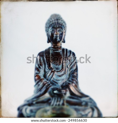 Instagram filtered image of a Buddha  - stock photo