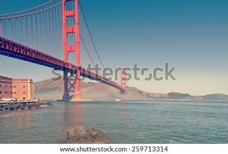 instagram san francisco golden gate bridge - stock photo