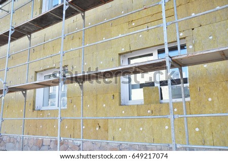 Rock wool stock images royalty free images vectors for Wool wall insulation