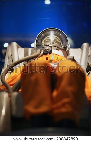 Installation of astronaut training by spaceflight program - stock photo