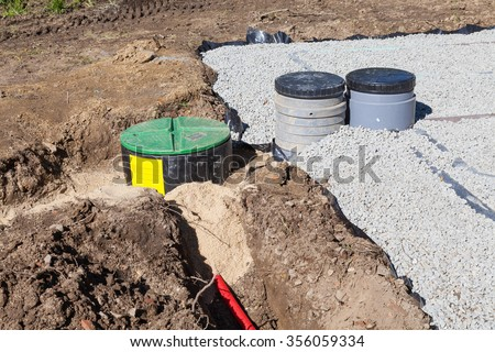 gravel bed septic system 2