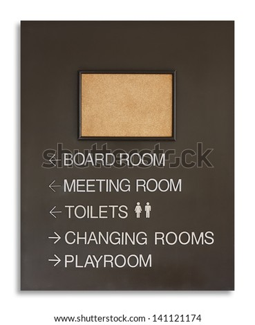 instant board for direct the way or advertise, isolated - stock photo