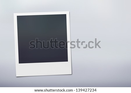 Instant Camera Picture on a stylish light grey background. - stock photo