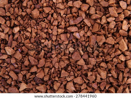 instant coffee grains as background - stock photo