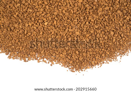instant coffee isolated on white - stock photo