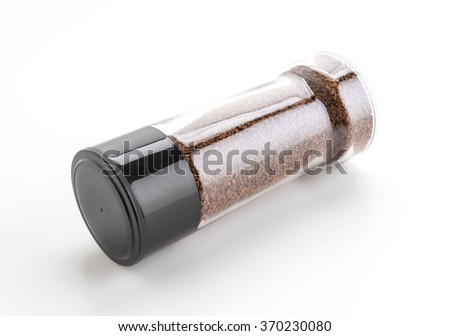 instant coffee  on white background