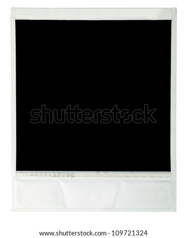 Instant film image on white background - stock photo