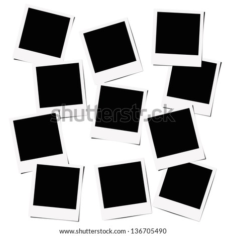 Instant films isolated on white background