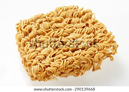 Instant noodle isolated on white background