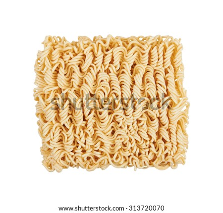 Instant noodles, isolated on white background - stock photo