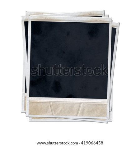 Instant photo frame isolated on white background.