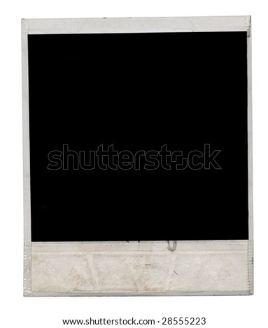 instant photo frame on white background