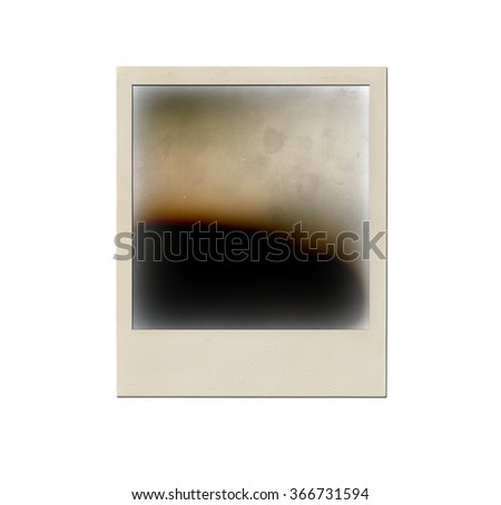 Instant photo isolated on white.