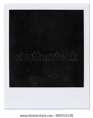 Instant photo isolated on white. Polaroid photo  - stock photo