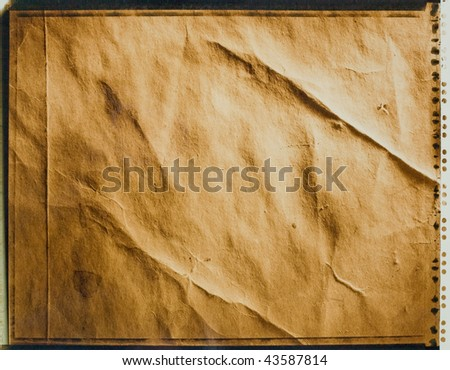 Instant photo of old paper as texture background - stock photo