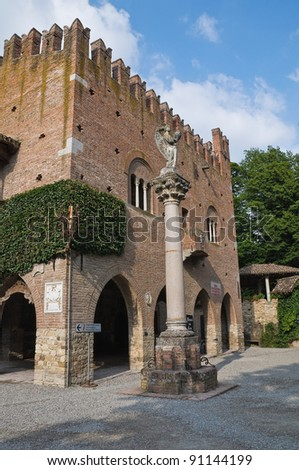 Institution Palace. Grazzano Visconti. Emilia-Romagna. Italy.
