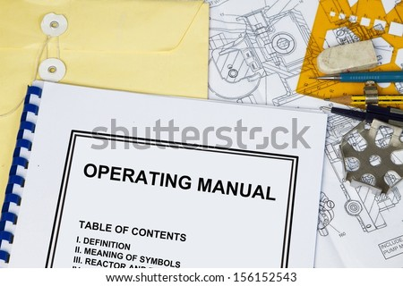 Instruction and Operating manual l of a machinery with engineering tools.