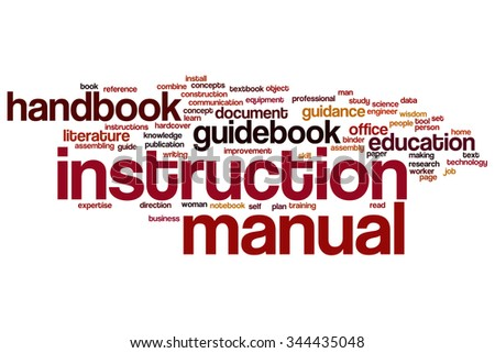 Instruction manual word cloud - stock photo
