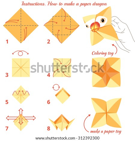 Instructions How To Make Paper Bird Origami Tutorial Step By Toy Educational