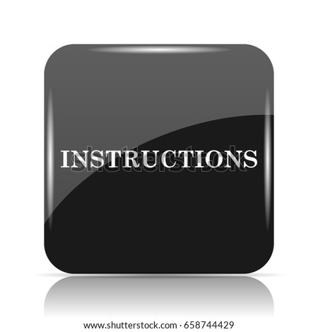 Instructions Icon Internet Button On White Stock Illustration