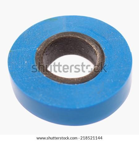 insulating tape isolated on white background - stock photo