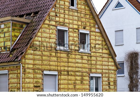 Insulation of a old building - stock photo