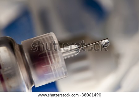 insulin syringe dripping
